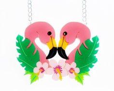flamingo duo necklace