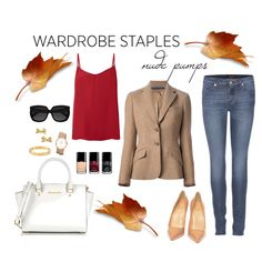 """""""Nude Pumps for Fall"""" by tequilacupcakes on Polyvore"""