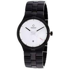 Obaku Men's Harmony Stainless-Steel Quartz Watch – White & Black – V111GBWSB
