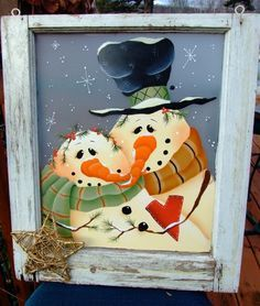 painted snowman pictures - Google Search