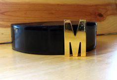 Authentic MOSCHINO Redwall Gold M Buckle by JennyHaniverVintage, $69.00