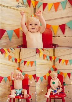 Toys and Decoration to Make the babies smile! Colorful baby birthday party