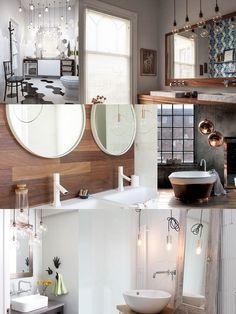 lampade da bagno e idee per illuminare il bagno - lampade pendenti a ...
