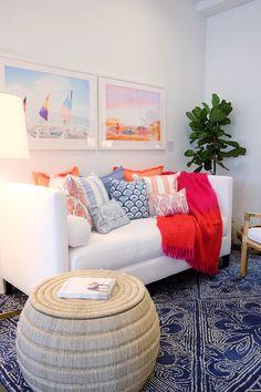 Living Room inspiration from Serena & Lily's LA Design Shop | Image via See Shop Eat Do
