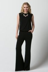 Jersey Backless Romper by Solemio #jumpsuit