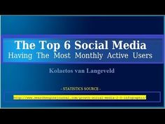 =The Top 6 Social Media Having The Most Monthly Active Users= See if you can mention them and then rank them from 1 to 6 according to the criterium above. Write the 6 down, rank them from 1 to 6 and then watch the video for the correct rankings. It's just a checkup on yourself on how well-informed you are! Furthermore, it's also fun to do! http://mydomainforwebsitetraffic.tk/
