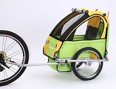 Sepnine baby bicycle trailer for one child (yellow/green): Single baby Bicycle Trailerbr Steel structure br lbsbr wheelsbr Reflectors included/safety flag included/universal hitch includedbr 5 point harness/padded seat/br Interior interior Sparkly Socks, Baby Bicycle, Steel Structure, Electric Motor, Motorhome, Steel Frame, Baby Strollers, Boat, Yellow