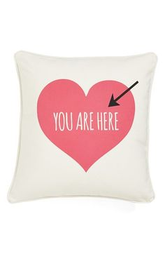 Yes, this (Imagine coming home from a hard day with this waiting on your bed. Love.) :: pillow from Nordstrom