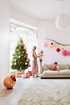 Christmas decorating with pink