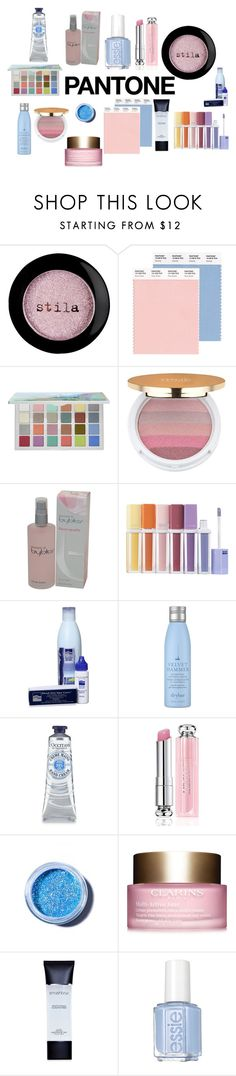 """Pantone 2016"" by pampire ❤ liked on Polyvore featuring beauty, Stila, Sephora Collection, Isaac Mizrahi, byblos, Drybar, Christian Dior, Lime Crime, Clarins and Smashbox"