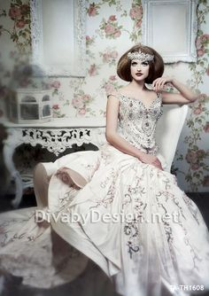 Luxury Vintage Inspired Bridal Couture Bombshell Brides Dress Gown