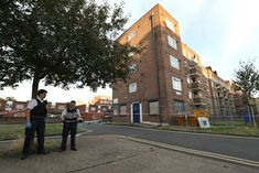 Five teenagers arrested after quadruple stabbing in Camberwell: Police officers outside Landor House in Camberwell (Jonathan Brady/PA)