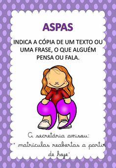 Cards com os sinais de pontuação Learn Portuguese, Sistema Solar, Special Education, Homeschool, Study, Teaching, Writing, Books, Kids