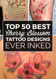 Share Tweet Pin Mail Cherry blossoms are among the most popular types of flowers in the tattoo industry—taking a back seat to possibly only ...