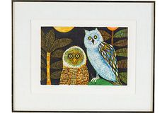 Lithograph, Owls on OneKingsLane.com - Eileen!!!!!!!