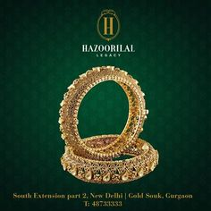 #TheGoldenEssence: The beaming light of gold for the bride of yesterday, today and tomorrow!  #HazoorilalLegacy #Hazoorilal #Jewelry #GoldBangles