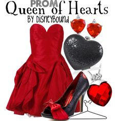 Queen of Hearts - PROM, created by disneylooks on Polyvore