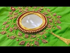 Stylish Blouse Design, Fancy Blouse Designs, Diy Embroidery Kit, Hand Embroidery Designs, Mirror Work Blouse Design, Maggam Work Designs, Pattu Saree Blouse Designs, Kutch Work, Churidar