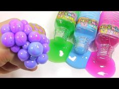 DIY How To Make 'Colors Bottle Slime Balloon Squishy Stress Ball' Learn Colors Slime Clay - YouTube