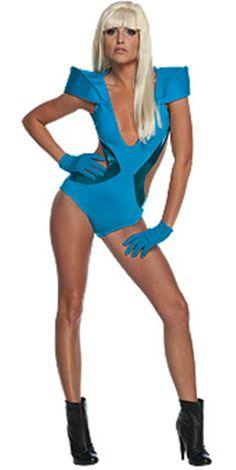 Lady Gaga Poker Face Video Swimsuit Blue Costume #boudoircostumes #pinup #roleplaying #boudoir
