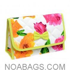 NaRaYa Cosmetic Bag with Mirror – Multicolored Roses