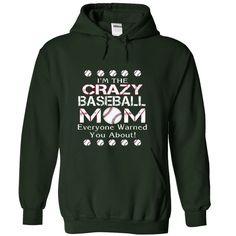 Baseball Crazy mom. T Shirt, Hoodie, Sweatshirt