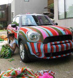 Fun Guerilla knitted car