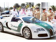 The Bugatti Veyron has a top speed of 407 kmph (Dubai police has fastest police car)
