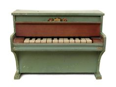 Vintage Wooden Toy Piano. Blue French Miniature by LeBonheurDuJour