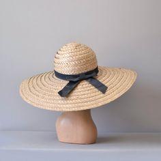 vintage straw Plantation hat
