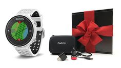 Garmin Approach S6 (Light) GIFT BOX Bundle | Includes Golf GPS Watch, PlayBetter USB Car & Wall Charging Adapters, GPS Carrying Case | Packaged in Black Gift Box with Red Bow & Crinkle Paper