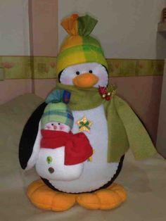 Molde Pinguino navidad