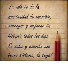 . frase de, escrib tu, pensamiento positivo, cita, tu historia, reflexion, quot, frase bonita, la vida