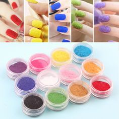 12 Mix Colors Powder Nail Art Dust Powder Design Tips Decoration for Nail Glitter Powder Manicure Nail Art Tool Kit #Affiliate
