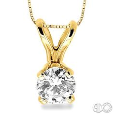 Make her every moment so special with this unique and classic Round Cut Diamond Solitaire Pendant showcases a fiery and radiant round cut diamond, beautifully centrally staged securely prong set, crafted in elegant 14 karat yellow gold with V-shaped bail setting and dangles from dazzling box chain. #swansonsdiamondcenter #solitare #necklace #diamond