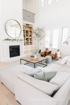 Today, we're showing you 8 Scandinavian living rooms we simply adore, and how to get the same look! Living Room Scandinavian, Cozy Living Rooms, Home Living Room, Living Room Designs, Scandinavian Design, Apartment Living, Scandinavian Furniture, Living Area, Simple Living Room Decor