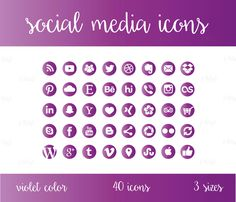 Social Media Icons Set Turquoise Blue Green by jellyfishfish Social Media Buttons, Social Media Icons, Purple, Pink, Blue Green, Icon Set, This Or That Questions, Website, Blog