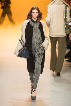 Francoise Sagan coat+pyjama trend. Rochas and Juilen David, fall winter 2013