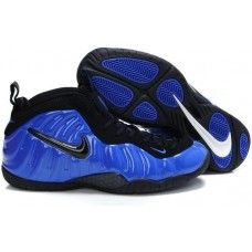 Nike Air Foamposite Pro blue and black basketball shoes