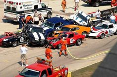 Ouch! trans am racing classics wreck