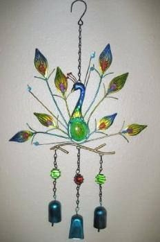 Peacock Wind Chime this would be gorgeous in the gazebo baby x