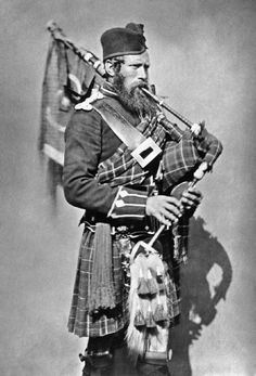+~+~ Antique Photograph ~+~+  Pipe Major John MacDonald, 72nd Regiment (Duke of Albany's Own Highlanders) - whilst serving in the Crimean War in 1854