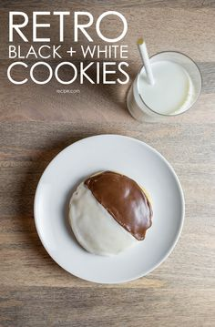 Make these retro black and white cookies for a blast from the past and a super sweet treat. #cookies #dessert
