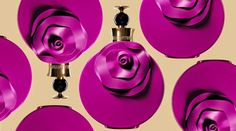 The new fragrance from Valentino is inspired by the mysterious and exciting journeys to the Orient. The flacon is dressed in seductive purple, embellished with a large purple flower Valentino Perfume, Valentino Valentina, Beauty Ad, New Fragrances, Purple Flowers, Perfume Bottles, Chai, Women, Cologne