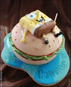 Spongebob on a krabby patty
