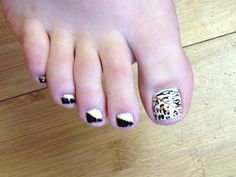 Summer toenail art