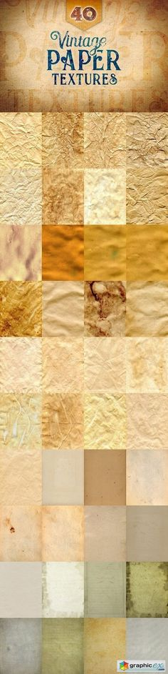 40 Vintage Paper Textures  stock images