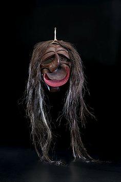 false face masks   270: Seneca Broken Nose False Face Mask : Lot 270