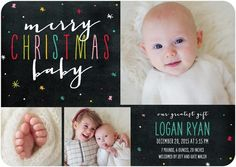 A Christmas baby birth announcement is the perfect way to introduce your new addition and send a festive holiday snowflake card all in one.