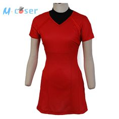 Star Trek Into Darkness Uhura Red Shirt  Uniform Dress Party Halloween Cosplay Costumes For Women Badge Hot Sale #Affiliate